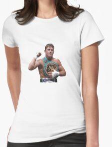 Saul Canelo Alvarez Boxing Womens Fitted T-Shirt