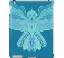 Handrawn Detailed Blue Birdie iPad Case/Skin