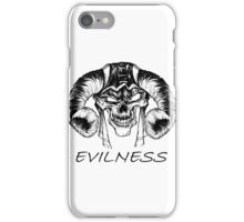 Evilness iPhone Case/Skin