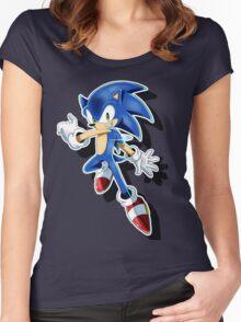 Blue Blur Women's Fitted Scoop T-Shirt