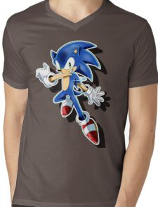 Blue Blur Mens V-Neck T-Shirt