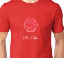 """""""Oh Crap"""" D20 1 Roll Red Unisex T-Shirt"""