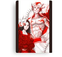 Alice with Cheshire Canvas Print