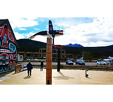 Totems in Carcross  Photographic Print