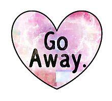 Go Away Cosmic Heart Photographic Print