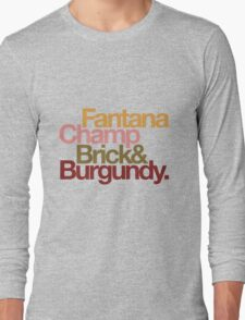 The Channel 4 news team, helvetica style. Long Sleeve T-Shirt