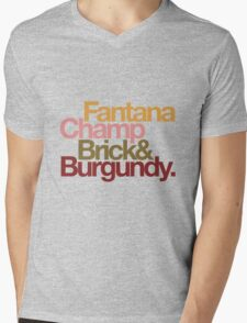 The Channel 4 news team, helvetica style. Mens V-Neck T-Shirt