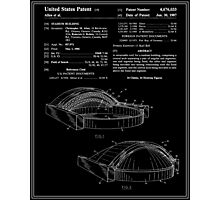 Stadium Patent - Black and White Photographic Print