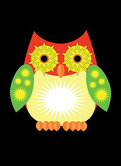 Star Owl - Red Yellow Green 2 by Adamzworld