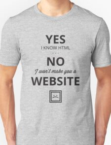 Web Designer T-Shirt