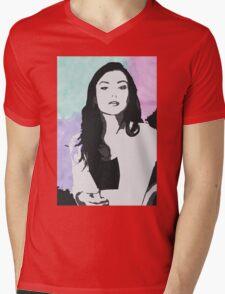 Natasha Negovanlis Watercolour Background Mens V-Neck T-Shirt