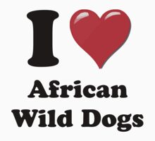 I Heart African Wild Dogs by HighDesign