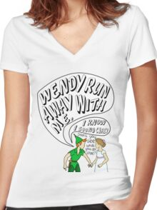 All Time Low- Somewhere in Neverland Women's Fitted V-Neck T-Shirt
