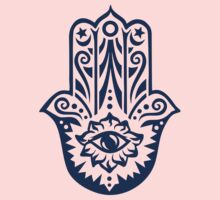 Hamsa - Hand of Fatima, protection amulet, symbol of strength and happiness Kids Clothes