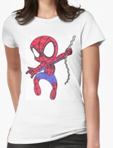 Chibi Spider-Man Womens Fitted T-Shirt