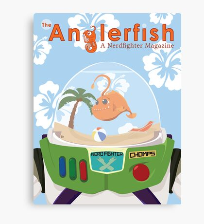 The Anglerfish Issue 6 - Chomps of Star Command Canvas Print