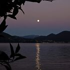Moonlight over Lake Maggiore by James  Key