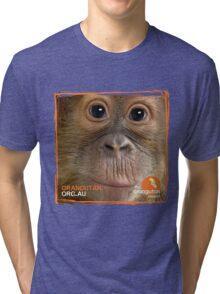 Orangutan Eyes - Windows to their Soul Tri-blend T-Shirt