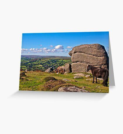 Bell Tor  Dartmoor   UK Greeting Card