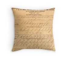 P+H's Small Writing Chart of Principles and Letters Throw Pillow