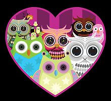 Love Owls 1 (black) by Adamzworld