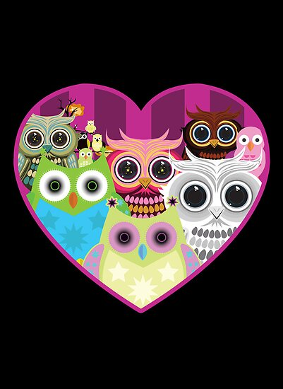 Love Owls 1 (black) by Adamzworld