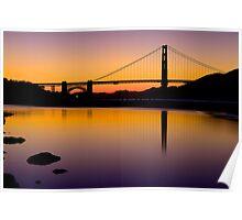 Golden Gate S. Francisco Sunset Poster