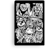 Zombie Puppet Theater Canvas Print