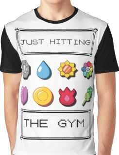 Pokemon hitting the gym Graphic T-Shirt
