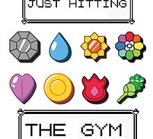 Pokemon hitting the gym by desuumbreon