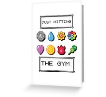 Pokemon hitting the gym Greeting Card