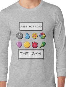 Pokemon hitting the gym Long Sleeve T-Shirt