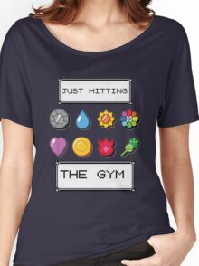 Pokemon hitting the gym Women's Relaxed Fit T-Shirt