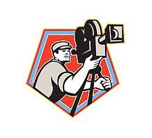 Cameraman Vintage Film Reel Camera Retro by patrimonio