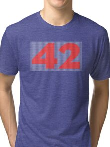 The Number 42 (red) Tri-blend T-Shirt