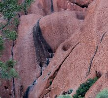 Uluru - rock face by gaylene
