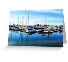 """Docked In San Diego"" Greeting Card"