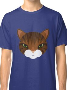 Mean Tabby Cat Classic T-Shirt
