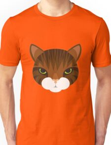 Mean Tabby Cat Unisex T-Shirt