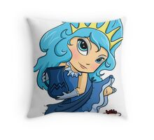 Chibi Aquarius Throw Pillow
