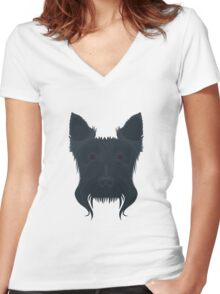 Scottish Terrier Women's Fitted V-Neck T-Shirt