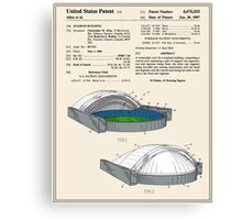 Stadium Patent - Colour Canvas Print