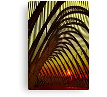 Olympic sunset in Athens Canvas Print