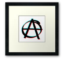 Anarchy in 3D Framed Print