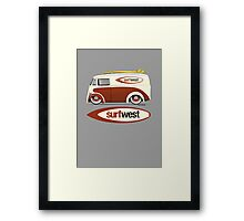SurfWest Austin Surf Van Framed Print