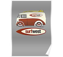 SurfWest Austin Surf Van Poster