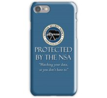 Protected by the NSA iPhone Case/Skin