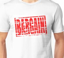 Bargain red rubber stamp effect Unisex T-Shirt
