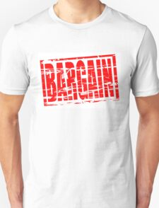 Bargain red rubber stamp effect T-Shirt