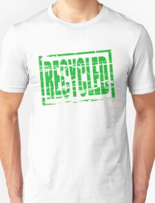 Recycled - green rubber stamp effect T-Shirt